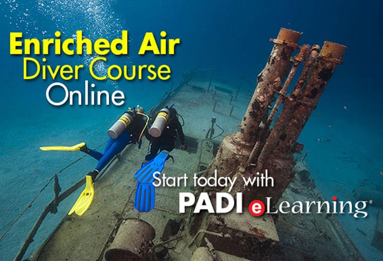 Take the Padi Enriched air course and extend your dive time with Eagle Divers, Sharm el sheikh red sea