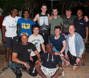 Hull university students football game Eagle Divers Sharm El-Sheikh Red Sea scuba diveing holidays