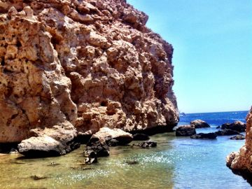 Camping Drving Eagle Divers Red Sea Sharm El Sheikh Ras Mohamed National Park Cliff Sea