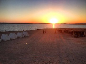 Camping Drving Eagle Divers Red Sea Sharm El Sheikh Ras Mohamed National Park Sunset