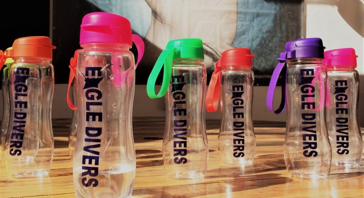 Shiny new reusable water bottles!